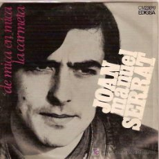 Discos de vinilo: JOAN MANUEL SERRAT EN CATALAN SINGLE SELLO EDIGSA AÑO 1969. Lote 6287421