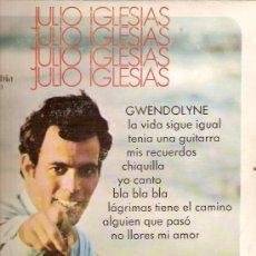Discos de vinilo: JULIO IGLESIAS 10¨(25 CTMS.) DEL SELLO COLUMBIA AÑO 1970. Lote 6301030