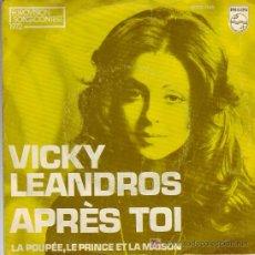 Discos de vinilo: VICKY LEANDROS EUROVISION 1972 APRES TOI PHILIPS 6000 045 HOLLAND. Lote 24382809