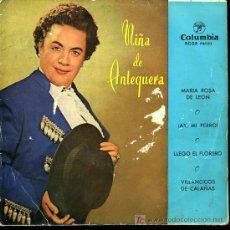 Discos de vinilo: NIÑA DE ANTEQUERA - MARÍA ROSA DE LEON / AY, MI PERRO / VILLANCICOS DE CALAÑAS- EP - 1958. Lote 6359773
