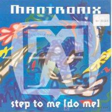Discos de vinilo: MANTRONIX - STEP TO ME DO ME / INSTRUMENTAL - SINGLE ALEMÁN DE 1991. Lote 6364935