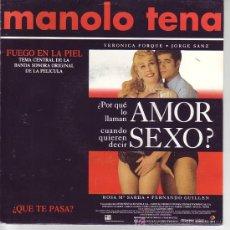 Discos de vinilo: ¿POR QUE LO LLAMAN AMOR CUANDO QUIERE DECIR SEXO? SG PROMOCIONAL BANDA SONORA MANOLO TENA. Lote 22051594