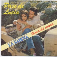 Discos de vinilo: PACO DE LUCIA,DE LA PELICULA LA SABINA. Lote 6416706