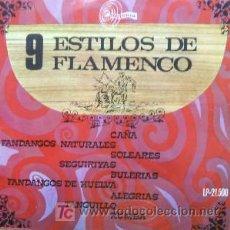 Discos de vinilo: 9 ESTILOS DE FLAMENCO. Lote 6418121