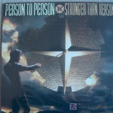 Discos de vinilo: LP - PERSON TO PERSON - STRONGER THAN REASON - ORIGINAL INGLÉS, EPIC RECORDS 1985. Lote 6419665