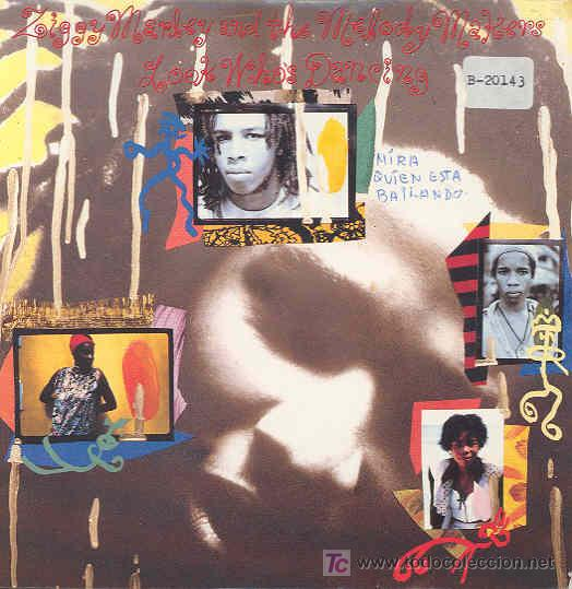 ZIGGY MARLEY AND THE MELODY MAKERS - LOOK WHO'S DANCING / PAINS OF LIFE-SINGLE INGLÉS DE 1989 (Música - Discos - Singles Vinilo - Reggae - Ska)