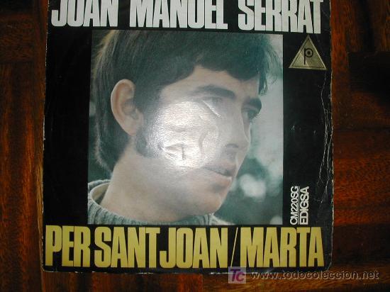 JOAN MANUEL SERRAT (Música - Discos - Singles Vinilo - Cantautores Españoles)