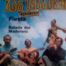 Discos de vinilo: SINGLE LOSVALLDEMOSA,FIESTA - BALADA DEL MADERERO 1970. Lote 26204478