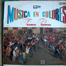 Discos de vinilo: LP - FRANCK POURCEL Y SU GRAN ORQUESTA - MUSICA EN COLORES - ORIGINAL ESPAÑOL, EMI 1964. Lote 6512149