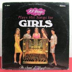 Discos de vinilo: 101 STRINGS PLAYS HIT SONGS FOR GIRLS ( MARIE, GIGI, ADIOS MARIQUITA LINDA, MAME, AVALITA...) USA. Lote 6540455