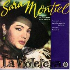 Discos de vinilo: SARA MONTIEL - LA VIOLETERA - HISPAVOX HH 17-51 (VER DESCRIPCIÓN). Lote 6541882