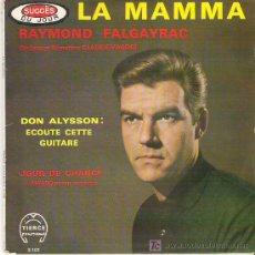 Discos de vinilo: RAYMOND FALGAYRAC - LA MAMMA +3 EP *****-RARO. Lote 11777491
