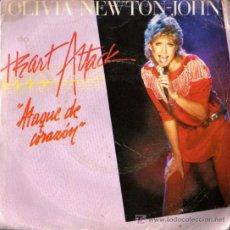 Discos de vinilo: SINGLE - OLIVIA NEXTON JOHN - HEART ATTACK. Lote 6583149