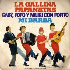Discos de vinilo: SINGLE - GABY FOFO Y MILIKI CON FOFITO - LA GALLINA PAPANATAS / MI BARBA. Lote 6583480