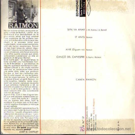 Discos de vinilo: PARTE POSTERIOR - Foto 2 - 6612858