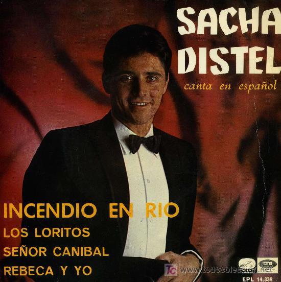 SACHA DISTEL - INCENDIO EN EL RIO (Música - Discos de Vinilo - EPs - Canción Francesa e Italiana)