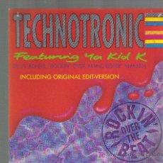 Discos de vinilo: SINGLE TECHNOTRONIC - ROCKIN´OVER THE BEAT + ROCKIN´OVER MANCHESTER. Lote 22442726