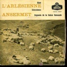 Discos de vinilo: ERNEST ANSERMET DIRIGE ORQUESTA DE LA SUISSE ROMANDE - SELECCIÓN LA ARLESIANA (BIZET) - 1959. Lote 25870333