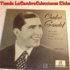Discos de vinilo: ANTIGUO DISCO SINGLE DE CARLOS GARDEL CAMINITO. AÑO 1958. Lote 6655684