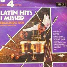 Disques de vinyle: EDMUNDO ROS AND HIS ORCHESTRA-LATIN HITS I MISSED LP DECCA 1967. Lote 6666570