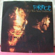 Discos de vinilo: PRINCE ( IF I WAS YOUR GIRLFRIEND - SHOCKADELICA ) 1987 - GERMANY SINGLE45 PAISLEY PARK RECORDS. Lote 6716928