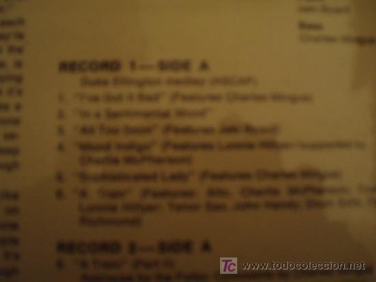 Discos de vinilo: VINILO UNICO. DOBLE LP. MINGUS AT MONTEREY. Edición española de 1969. COMO NUEVO!!!!!!!! - Foto 3 - 10395474