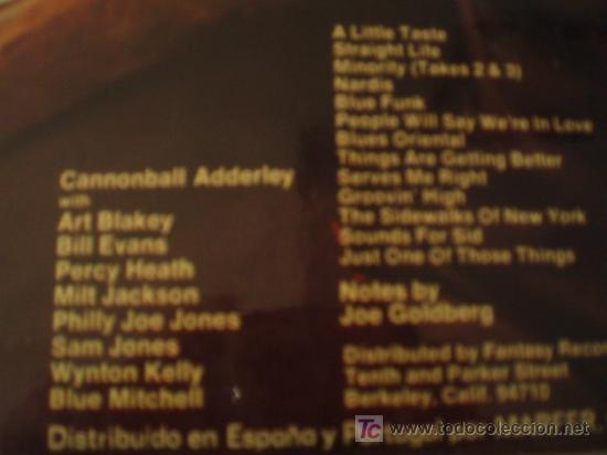 Discos de vinilo: DOBLE LP. CANNONBALL ADDERLEY AND EIGHT GIANTS. Edición española de 1974. Excelente conservación!!!! - Foto 4 - 9796093