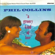 Discos de vinilo: BSO BUSTER PHIL COLLINS-A GROOVY KIND OF LOVE SINGLE PROMO WEA 1988. Lote 6739693