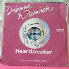 Discos de vinilo: DIONNE WARWICK ( HEARTBREAKER - I CAN'T SEE ANYTHING ) 1982-HOLANDA SINGLE45 ARISTA. Lote 6741041