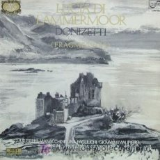 Discos de vinilo: GAETANO DONIZETTI - FRAGMENTOS DE LUCIA DE LAMMERMOOR. Lote 6766741