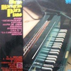 Discos de vinilo: OBRAS MAESTRAS PARA PIANO. Lote 6771645