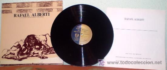 RAFAEL ALBERTI EN SU PROPIA VOZ. CARATULA DIBUJO PICASSO.LP (RARO) (Música - Discos - LP Vinilo - Otros estilos)