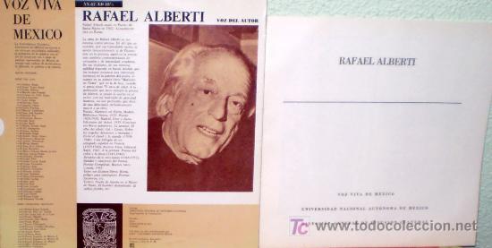 Discos de vinilo: RAFAEL ALBERTI EN SU PROPIA VOZ. CARATULA DIBUJO PICASSO.LP (RARO) - Foto 2 - 8625071