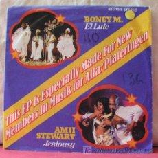Discos de vinilo: BONEY M.,AMII STEWART,AMANDA LEAR,DSCHINGUIS KHAN). Lote 7984004