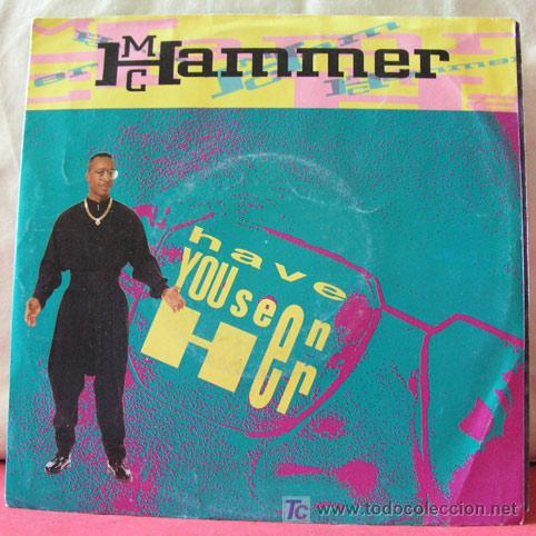 M.C. HAMMER ( HAVE YOU SEEN HER - HELP THE CHILDREN ) 1990 SINGLE45 CAPITOL RECORDS (Música - Discos - Singles Vinilo - Funk, Soul y Black Music)