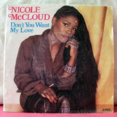 Discos de vinilo: NICOLE MCCLOUD (DON'T YOU WANT MY LOVE - SHY BOY). Lote 6773024
