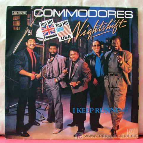 COMMODORES (NIGHTSHIFT - I KEEP RUNNING) 1985-GERMANY SINGLE45 MOTOWN (Música - Discos - Singles Vinilo - Funk, Soul y Black Music)