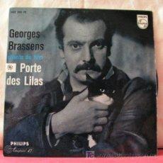 Discos de vinilo: GEORGES BRASSENS (L'AMANDIER - A BOIS DE MON COEUR - LE VIN - LES LILAS) 1959-GERMANY EP45 PHILIPS. Lote 6775505