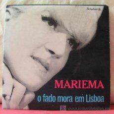 Discos de vinilo: MARIEMA ( 'O FADO MORA EM LISBOA' - MARUJINHO - DIZEM - ANDA LISBOA ) 1965-PORTUGAL EP45 PARLOPHONE. Lote 6784481