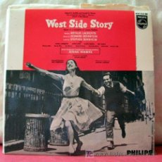 Discos de vinilo: WEST SIDE STORY (MARIA - TONIGHT - I FEEL PRETTY - GEE, OFFICER KRUPKE) EP45. Lote 6790124