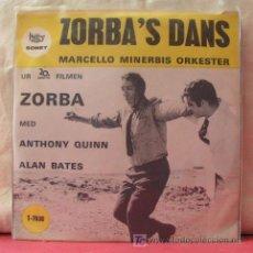 Discos de vinilo: MARCELLO MINERBIS ORKESTER ( ZORBA'S DANS - L'ISOLA DEL SOLE) ZORBA MED ANTHONY QUINN & ALAN BATES. Lote 6790358