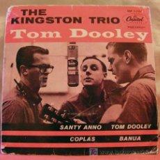Discos de vinilo: THE KINGSTON TRIO ( SANTY ANNO - TOM DOOLEY - COPLAS - BANUA ) SWEDEN-1958 EP45 CAPITOL RECORDS. Lote 6809552