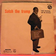 Discos de vinilo: LOUIS ARMSTRONG AND HIS ALL-STARS ?– SATCH THE TRUMP, NETHERLANDS 1956 EP PHILIPS. Lote 6810692