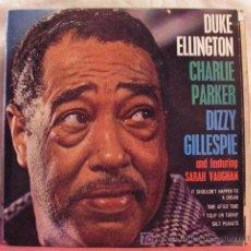 Discos de vinilo: DUKE ELLINGTON, CHARLIE PARQUER, DIZZY GILLESPIE AND FEATURING SARAH VAUGHAN 1965-ENGLAND EP45. Lote 6821042