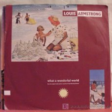 Discos de vinilo: LOUIS ARMSTRONG (WHAT A WONDERFUL WORLD - GAME OF LOVE) 1988 SINGLE45. Lote 6830545