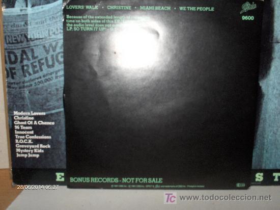 Discos de vinilo: GARLAND JEFFRIES ----- ESCAPE ARTIST + EP - Foto 2 - 17458422