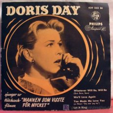 Discos de vinilo: DORIS DAY (WHATEVER WILL BE, WILL BE - WE'LL LOVE AGAIN - YOU MADE ME LOV YOU - LET IT RING) 1956 EP. Lote 43224047