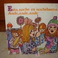 Discos de vinilo: CORO Y RONDALLA ALEGRIA - ESTA NOCHE ES NOCHEBUENA / ANDE ANDE ANDE. Lote 6844817