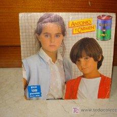 Discos de vinilo: ANTONIO Y CARMEN - SOPA DE AMOR. Lote 6846165