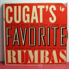 Discos de vinilo: XAVIER CUGAT AND HIS ORCHESTRA ( CUGAT'S FAVORITE RUMBAS ) USA LP33 COLUMBIA. Lote 6857605